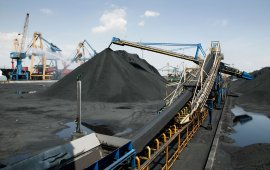 Coal stacker port terminal