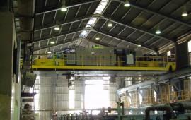 Umarbeitung von Kranen in der Hunstman Tioxide-Anlage