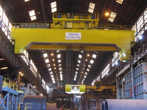 EOT steel industry crane 315 t