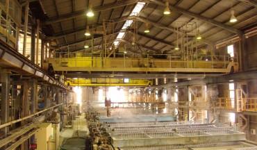 Modernisation de grues dans l'installation de Hunstman Tioxide